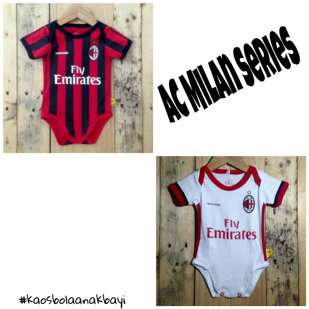 harga Baby jumper Seri AC Milan Home-Away 2017 di lapak Kaos Bola Anak Bayi nadadhiaolshop Lazada.co.id