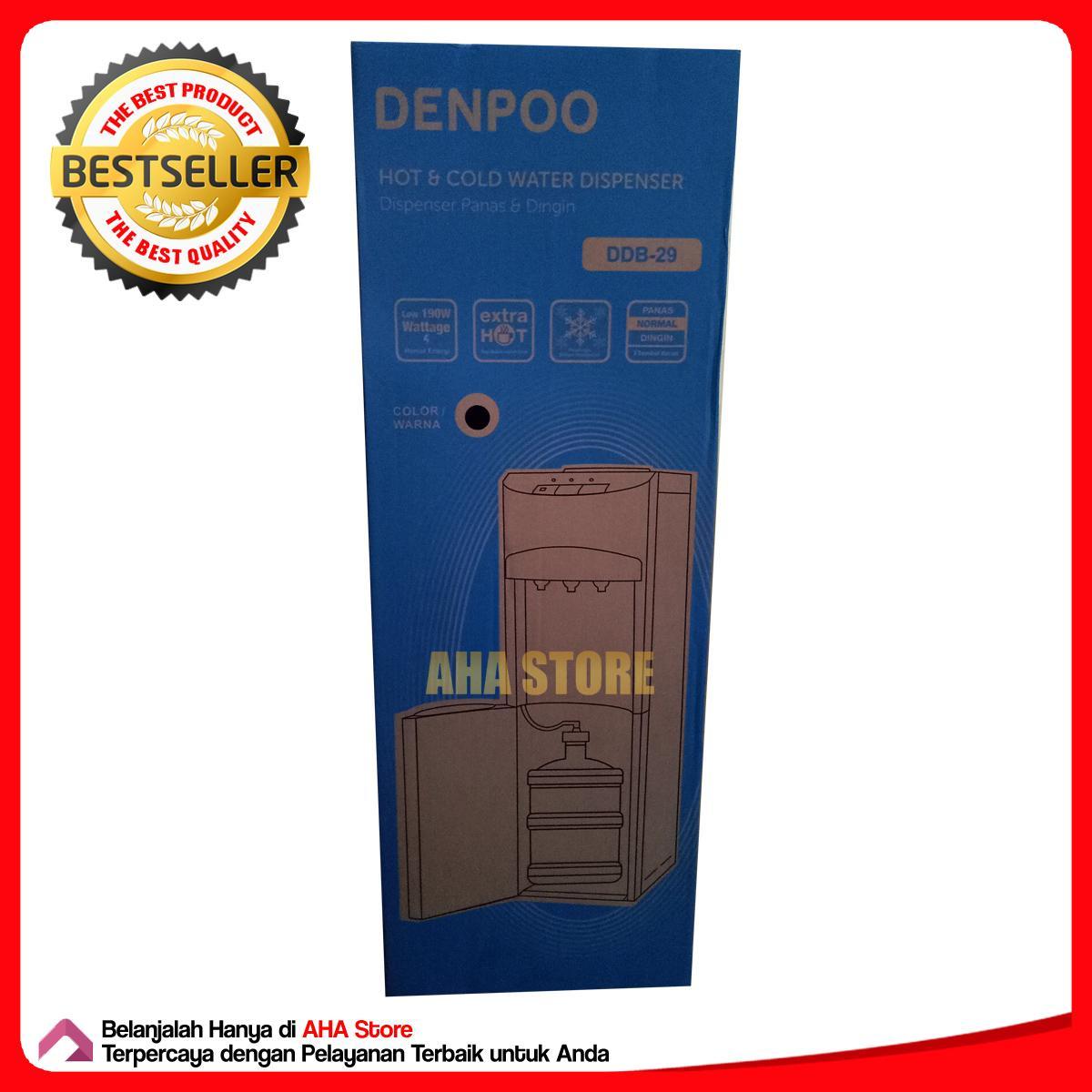 Denpoo Dispenser Air Standing Galon Bawah DDB 29 Hitam 5 .