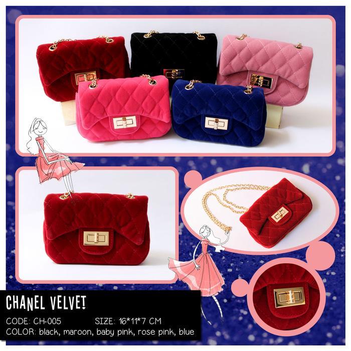 Chanel Velvet - Tas Mini Anak dan Dewasa