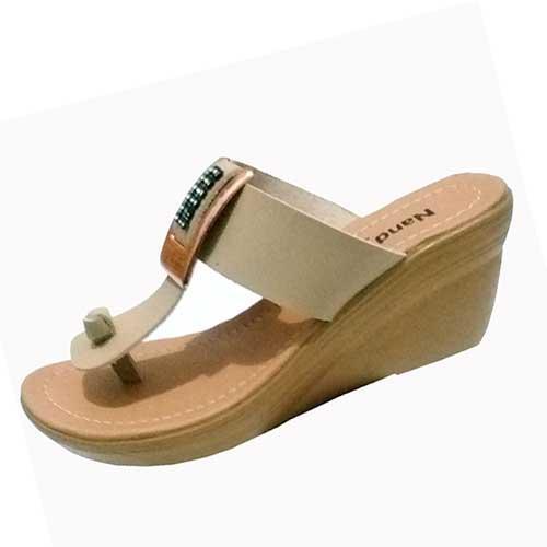Therwan Sandal Wedges Wanita / Sendal Wedges Casual / Cream - 3