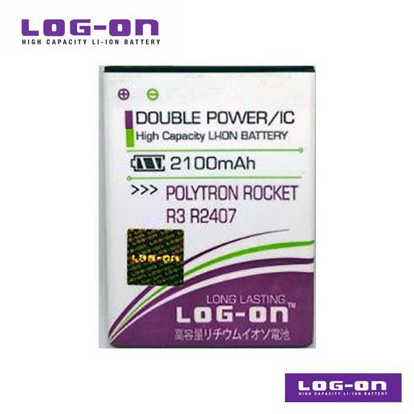 LOG-ON Battery For Polytron Rocket R3 R2407 - DoublePower & IC - Garansi 3 Bulan