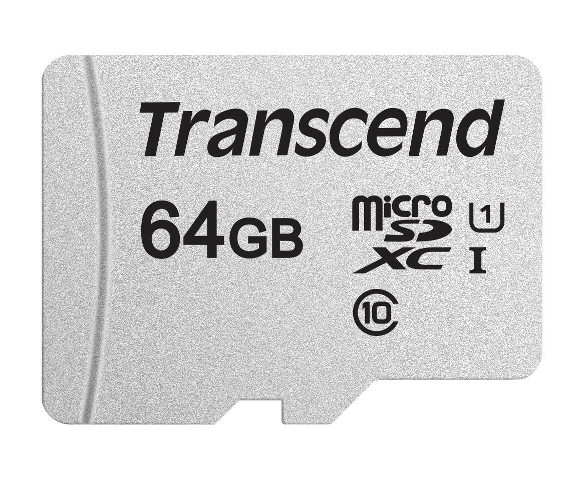 Detail Gambar Transcend MicroSDXC 64GB Memory Card with SD Card Adapter 300S-A [64GB/ UHS-1/ Class 10/ 95Mbps] Terbaru