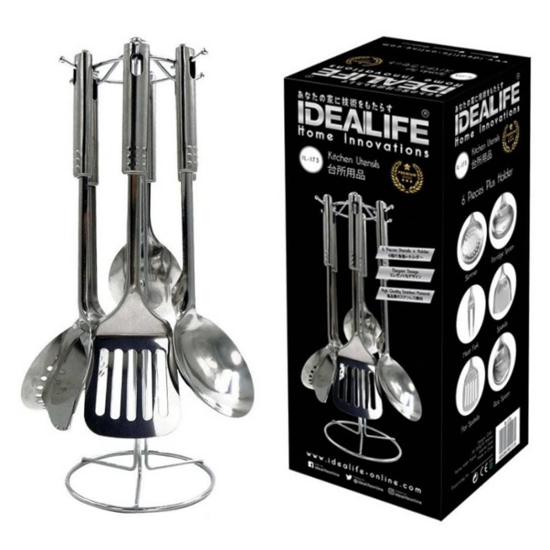 Review Idealife Spatula Sodet Tools Stainless Il 173 Silver Timbangan Badan Digital Il270 3