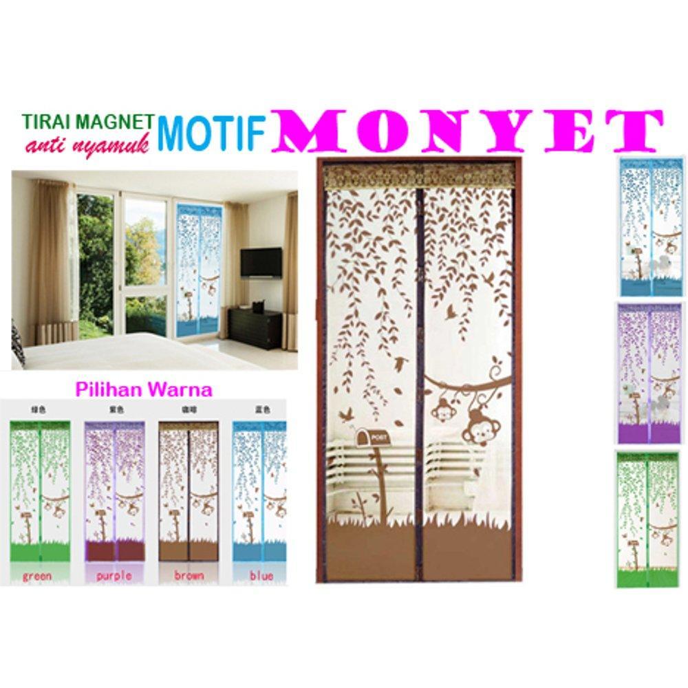 ... Magic Mesh Tirai Magnet Anti Nyamuk Motif Monkey/ Monyet- Tirai Pintu Magnet - 3