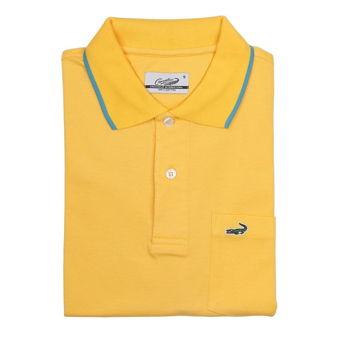 MEMO Mango Yellow - Baju Polo Slim Fit Crocodile Original - KHUSUS PENJUALAN ONLINE