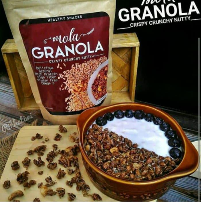 Detail Gambar Mola Granola Varian Coklat Terbaru