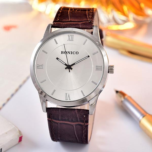 Bonico Jam Tangan - Pria - 1483G - Leather Band