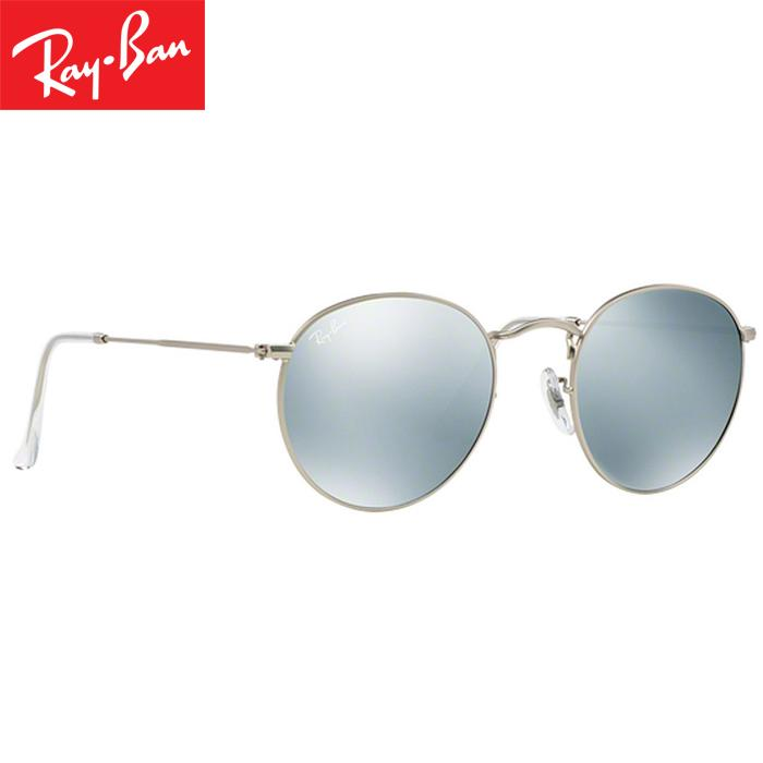 Rayban RB3447 019/30 50-21 Round Flash Lenses Kacamata Pria Wanita Eye Wear Men Women Sunglasses Silver Frame Silver Flash Lens - 3