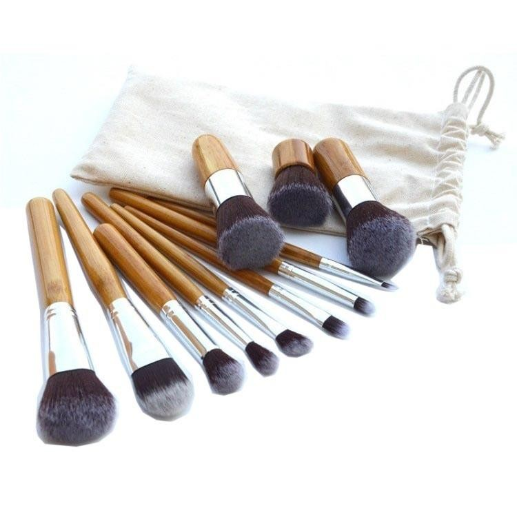 Review Kuas Make Up Cosmetic Brush Professional 11 Set With Pouch Cream 11 Pcs Terbaru