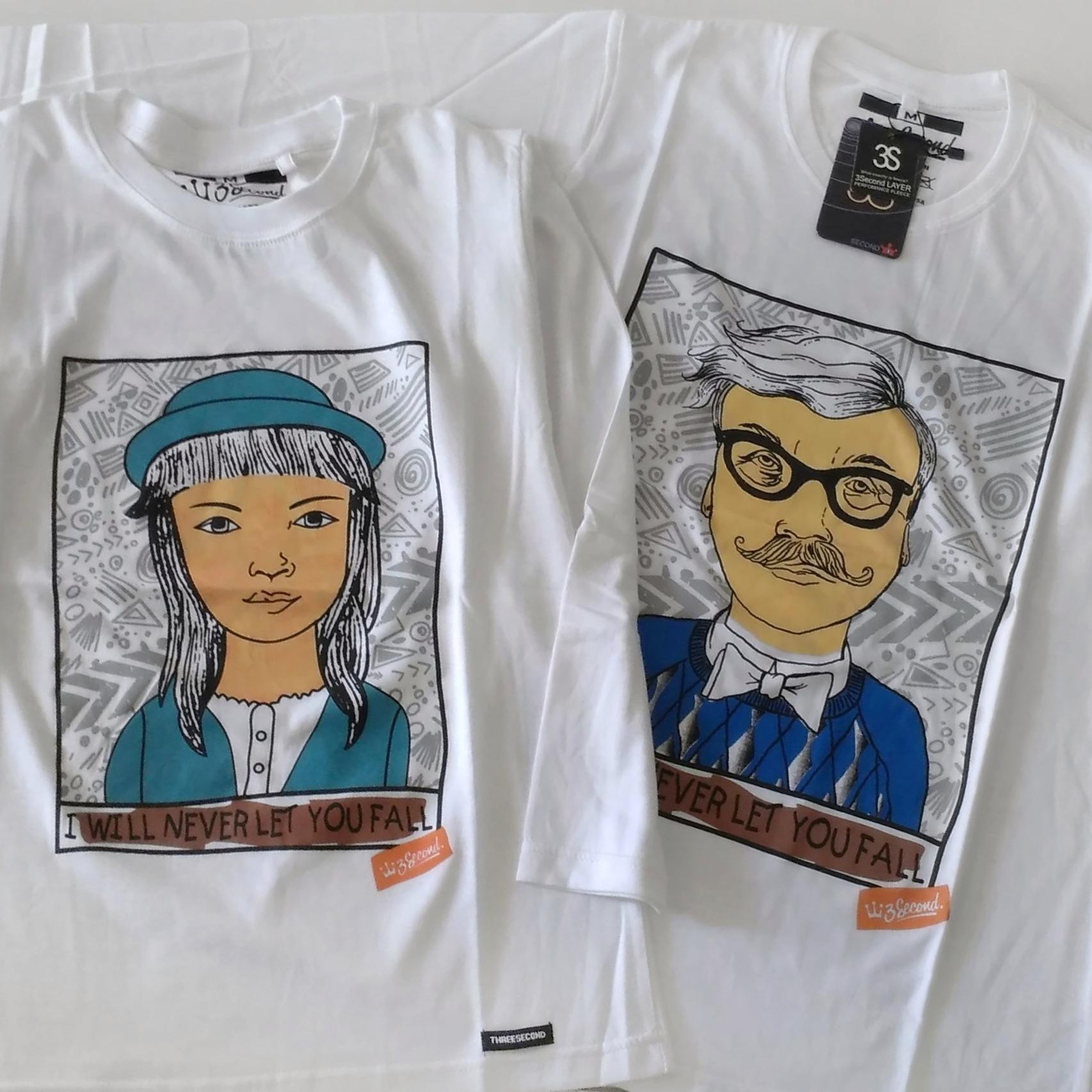 Cek Harga Baru Kaos Couple 3second Lengan Panjang Warna Putih Baju Unisex Gambar Produk Rinci Pasangan Wanita Terkini