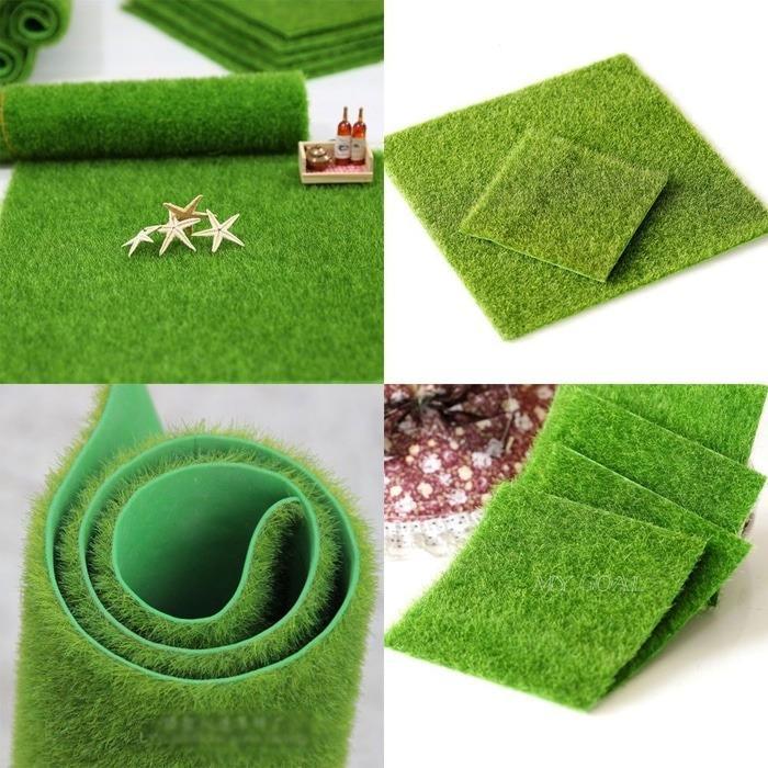 Rumput sintetis palsu taman miniatur diorama diecast artificial grass