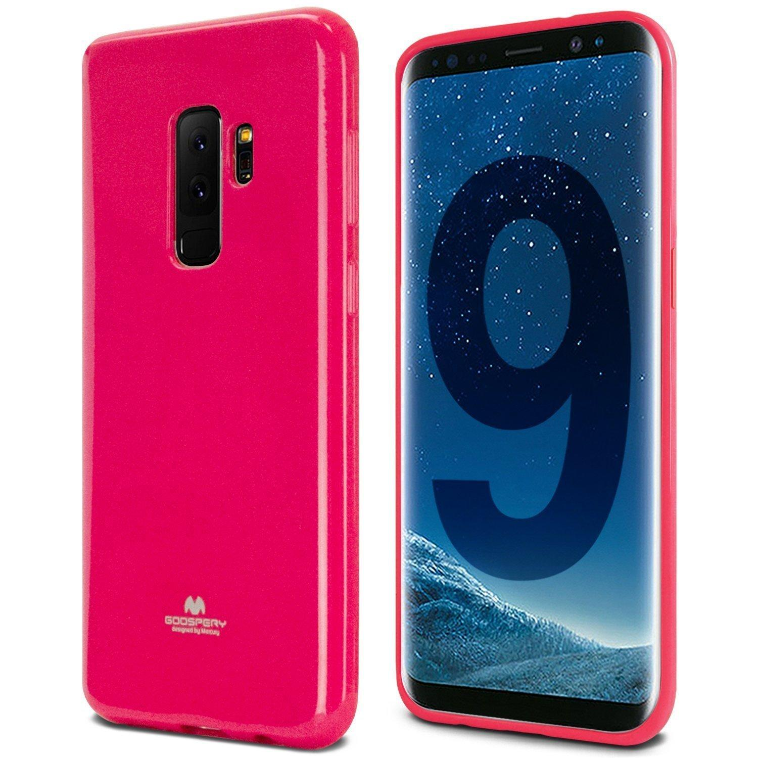 Mercury Jelly Soft Case for Samsung Galaxy S9 Plus - Hotpink