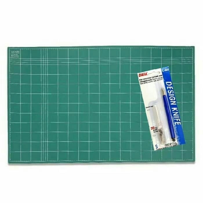 Creative Sets - Cutting Mat A2 Double Sided + Pen Cutter Design Knife DAFA - 2 ...