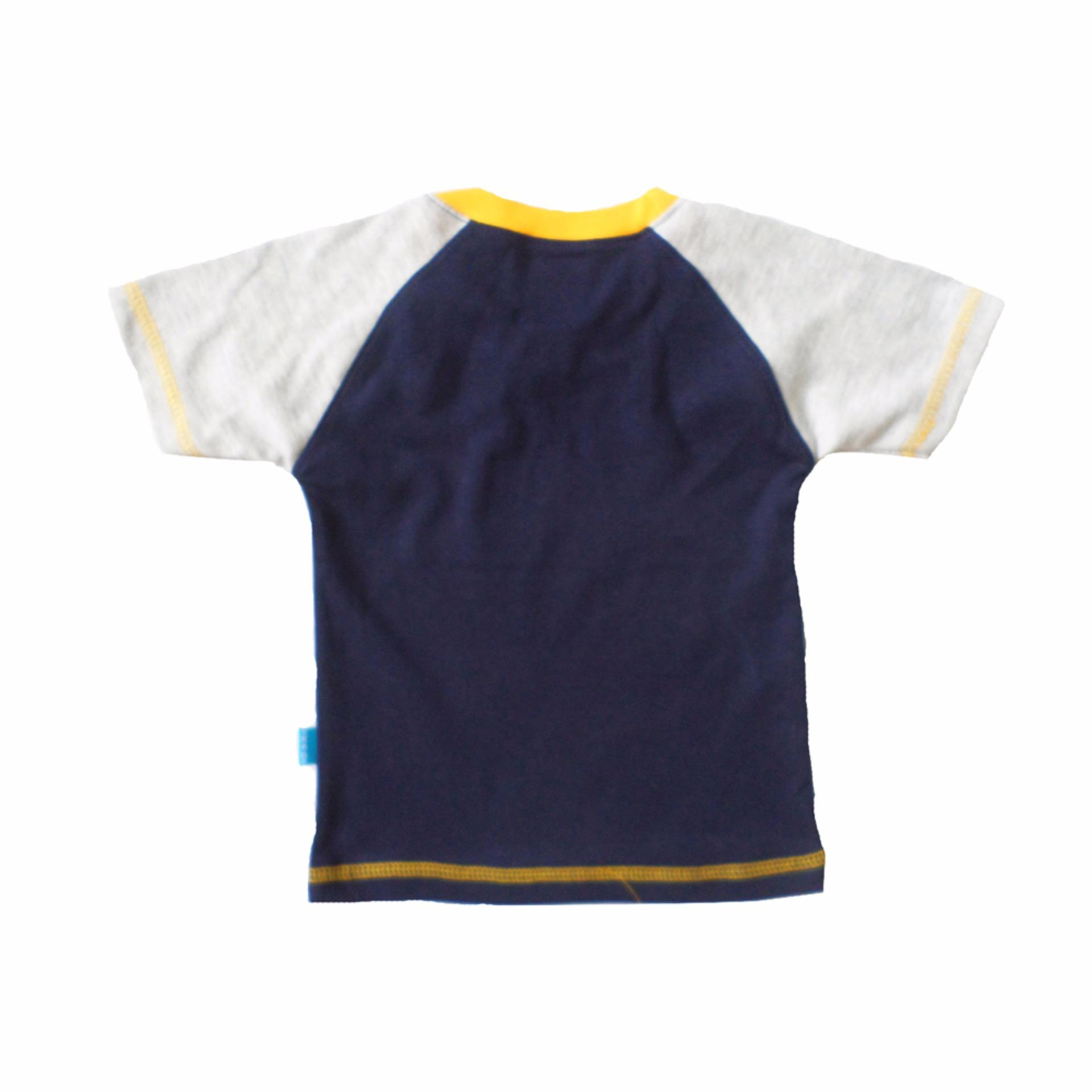 Skabe Baju Anak Bayi Warna Tua Tangan Pendek Stelan Jeans 2000-Navy .