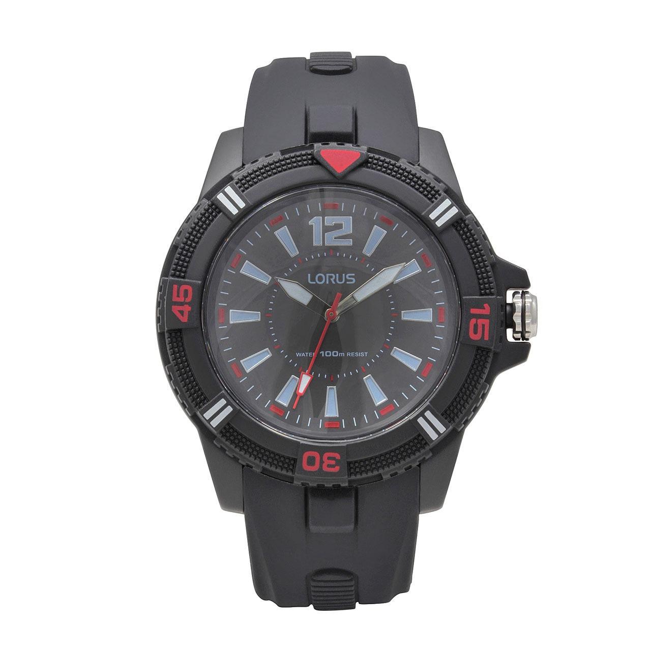 LORUS Jam Tangan - Black - Silicon - RRX11FX9