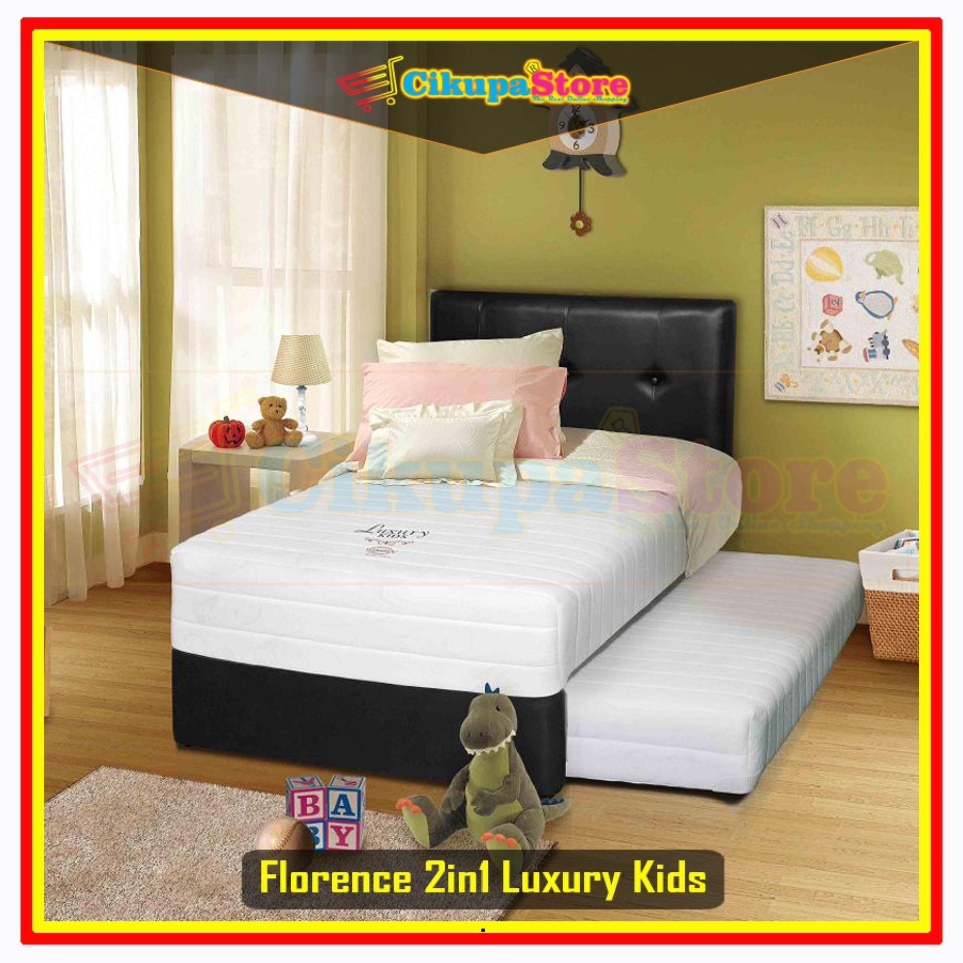 FREE ONGKIR !! Kasur Spring Bed Matras 2in1 Florence Luxury Kids - 100x200 Full Set