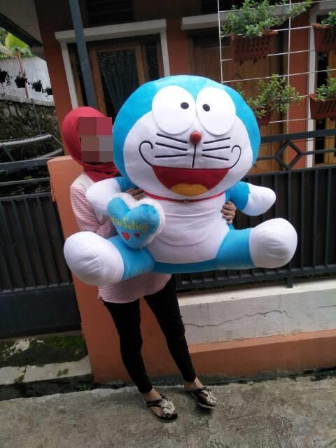 Boneka Doraemon sSuper Jumbo + Bordir Love Nama - 4