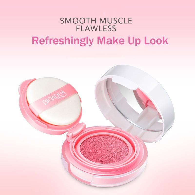 Detail Gambar BIOAQUA SMOOTH FLAWLESS BLUSH ON CUSHION Terbaik