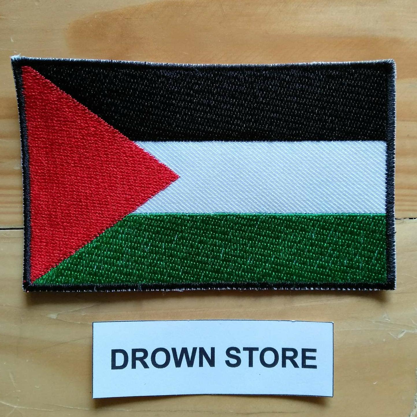 Emblem Bordir Patch Bendera Palestina MEDIUM SIZE
