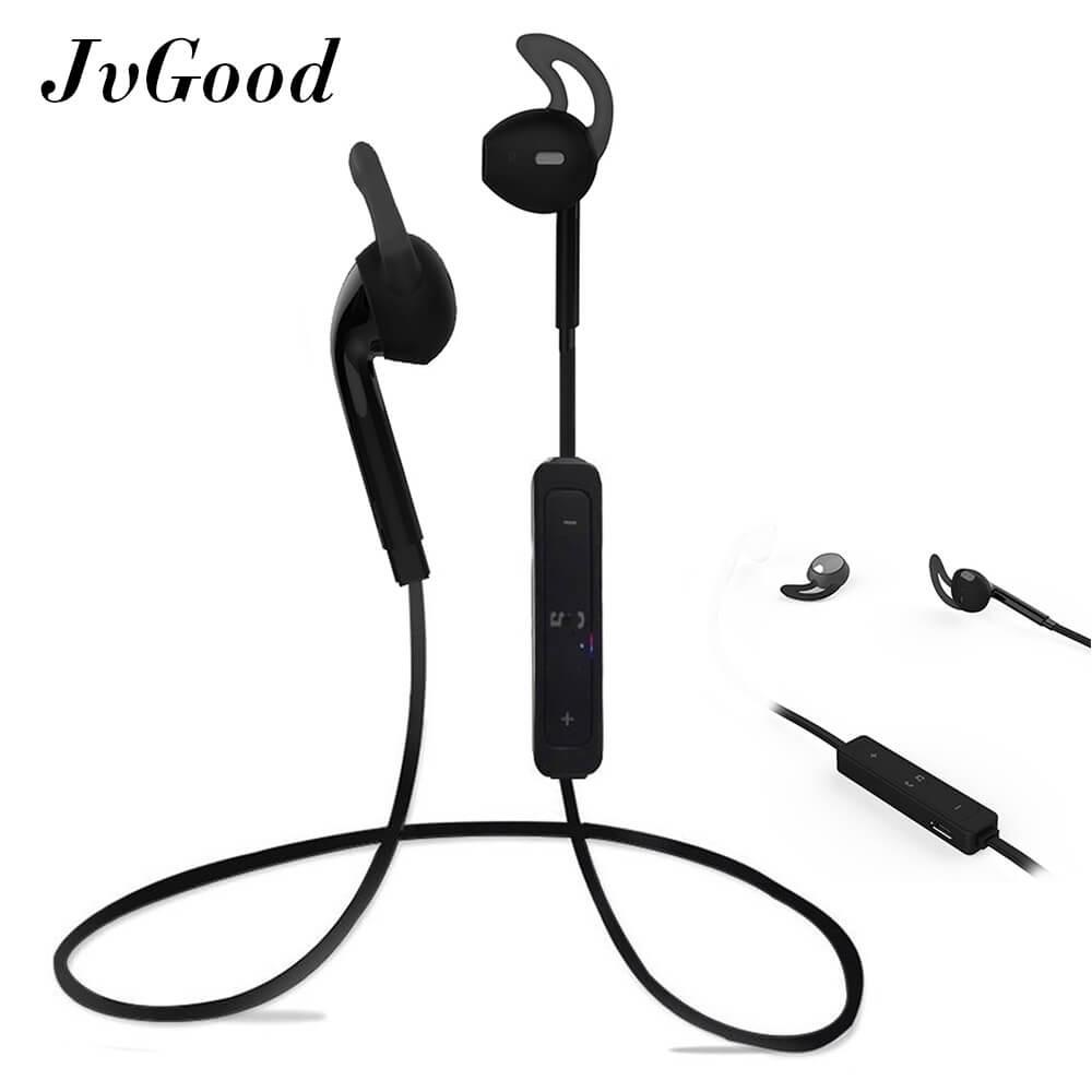Jvgood Bluetooth Wireless Headphones Sport Workout Ear Buds Gym Headsets Running Earphones Sweatproof Earbuds Black Diskon Akhir Tahun