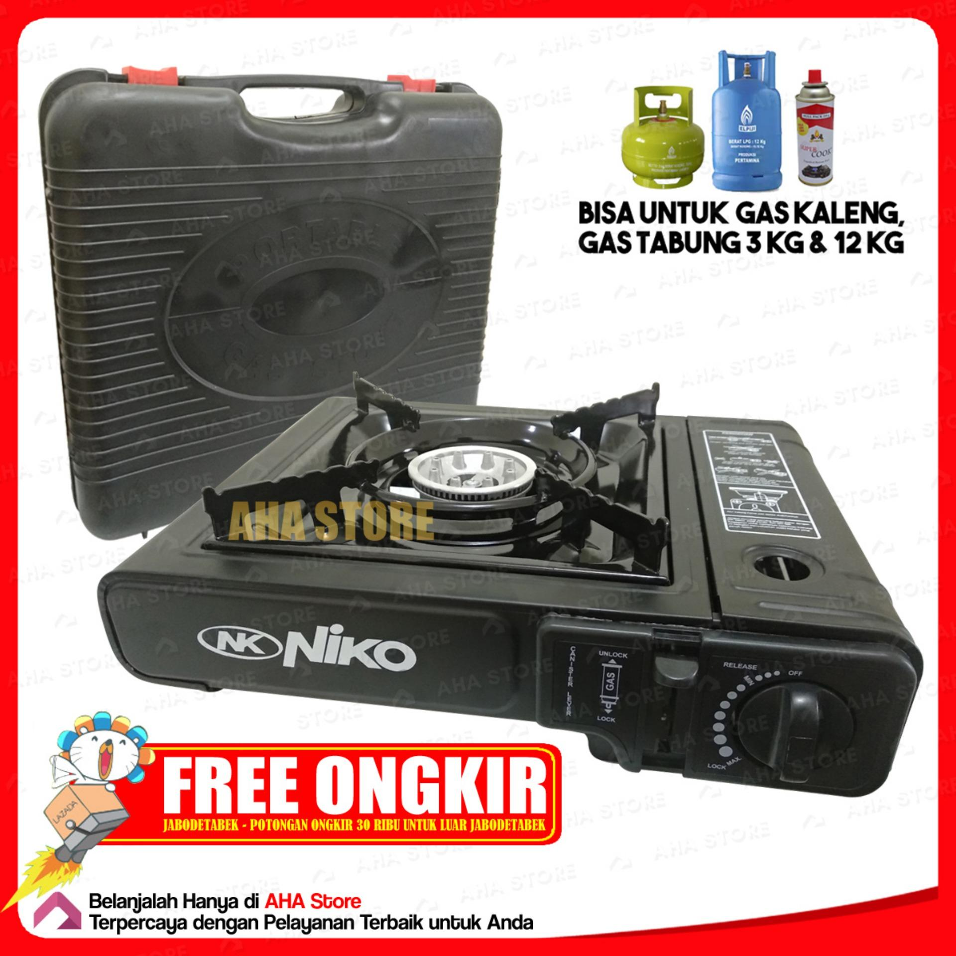 Kelebihan Niko Kompor Gas Satu Tungku Nk 1sn Stainless Silver Surabi Serabi 5 Portable 2 In 1 268