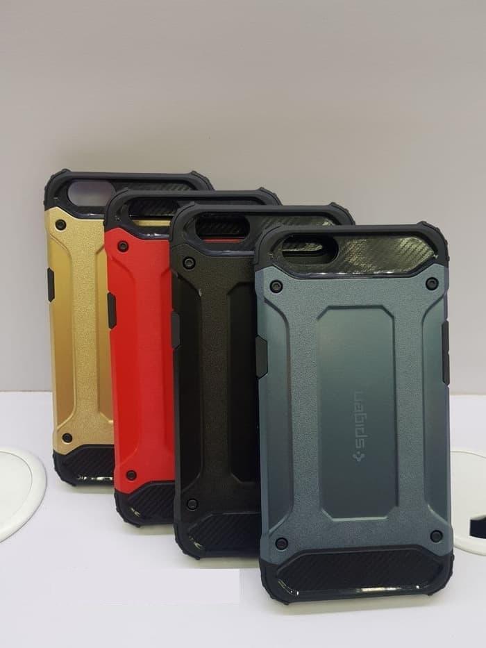 Hardcase Spigen Iron Oppo A3s / Case / Casing SoftCase a3s