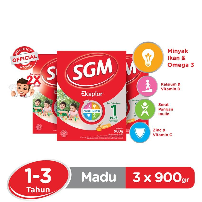 Jual Sgm Eksplor Complinutri 1 Susu Pertumbuhan Madu 900Gr Bundle Isi 3 Box Sgm Murah