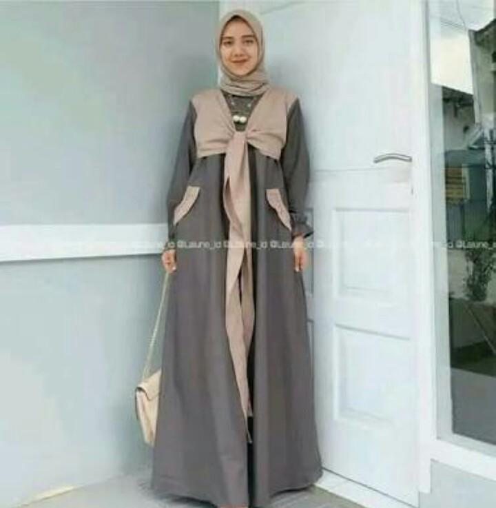 Detail Gambar Gamis balotely modern syari maxi sabyan - Ranaya Fashion Terbaru