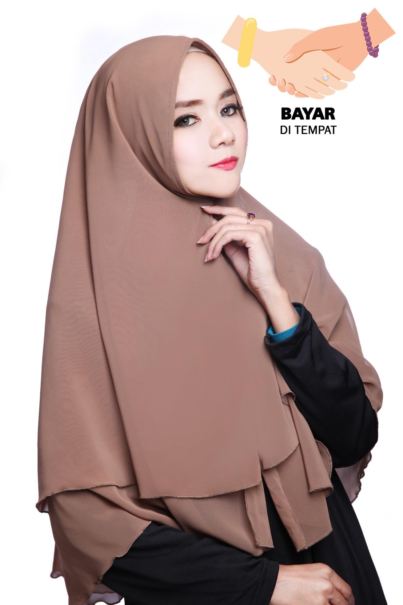 Cek Harga Baru Hijab Panjang Syari Model French Jilbab Instan Jumbo Rempel Kerudung Khimar Zalwa Milochoco