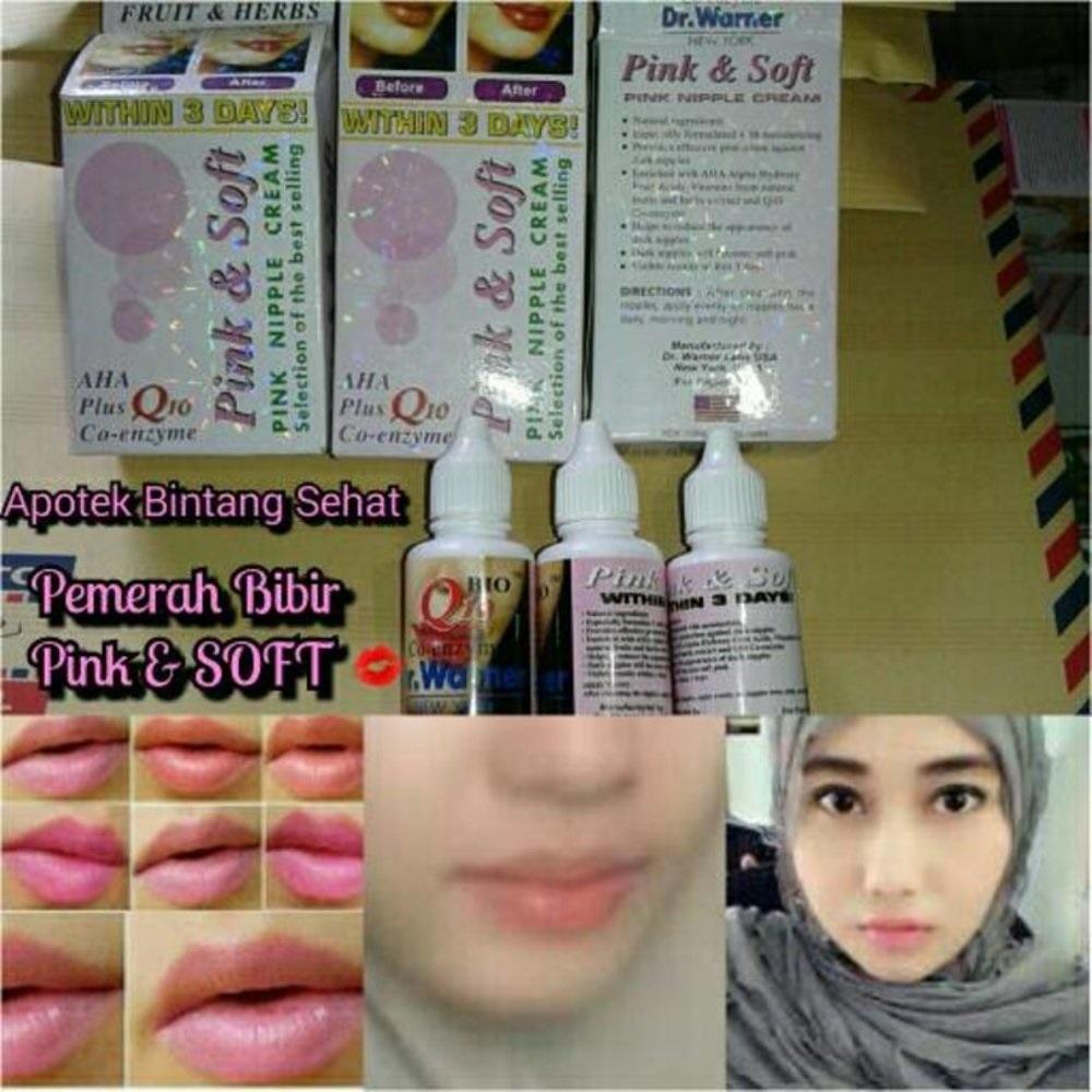 Detail Gambar Obat Cream Gel Pelembab Pemerah Bibir Puting Pink Soft Pria Wanita Obat Pemerah Bibir