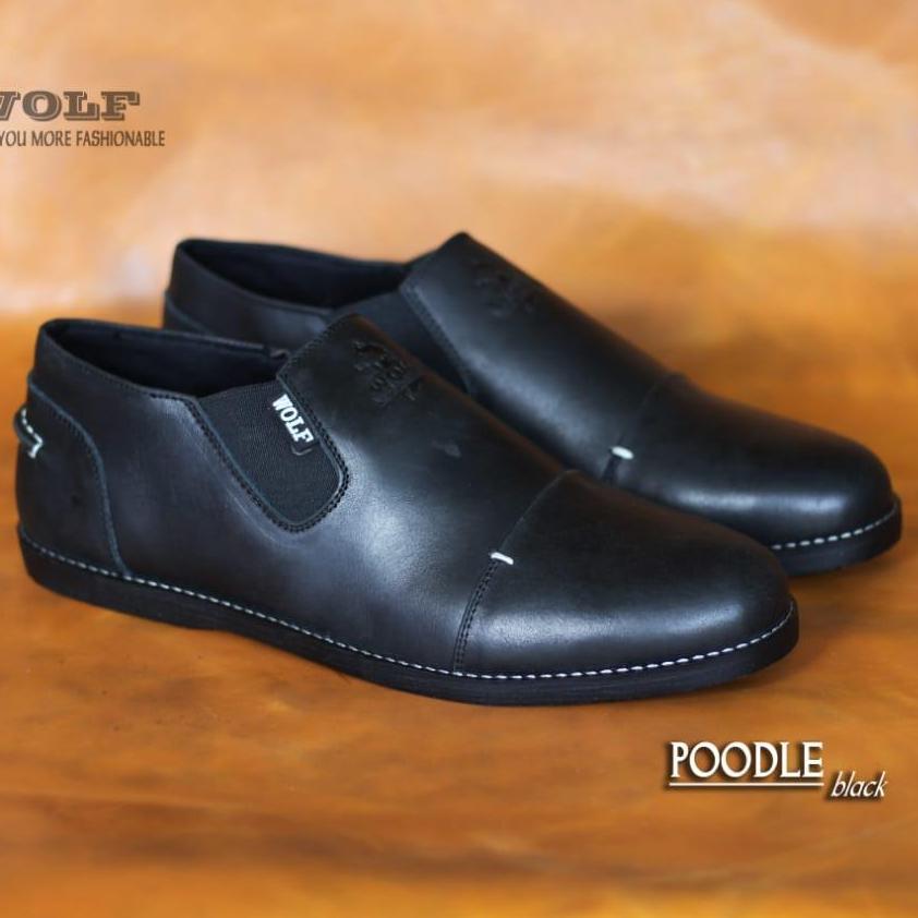 Sepatu Boots SLIP ON WOLF Kulit Asli Safety Original Murah Hitam Tan Coklat  SEPATU PROYEK LAPANGAN 8bcfd25605