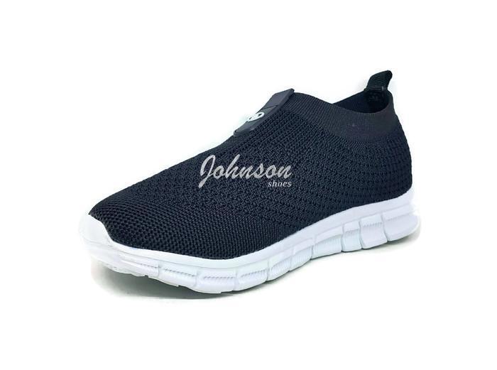 [ Johnson Shoes ] Sepatu SlipOn Casual Santai Anak DANS - DAGNY Black 100% ORIGINAL