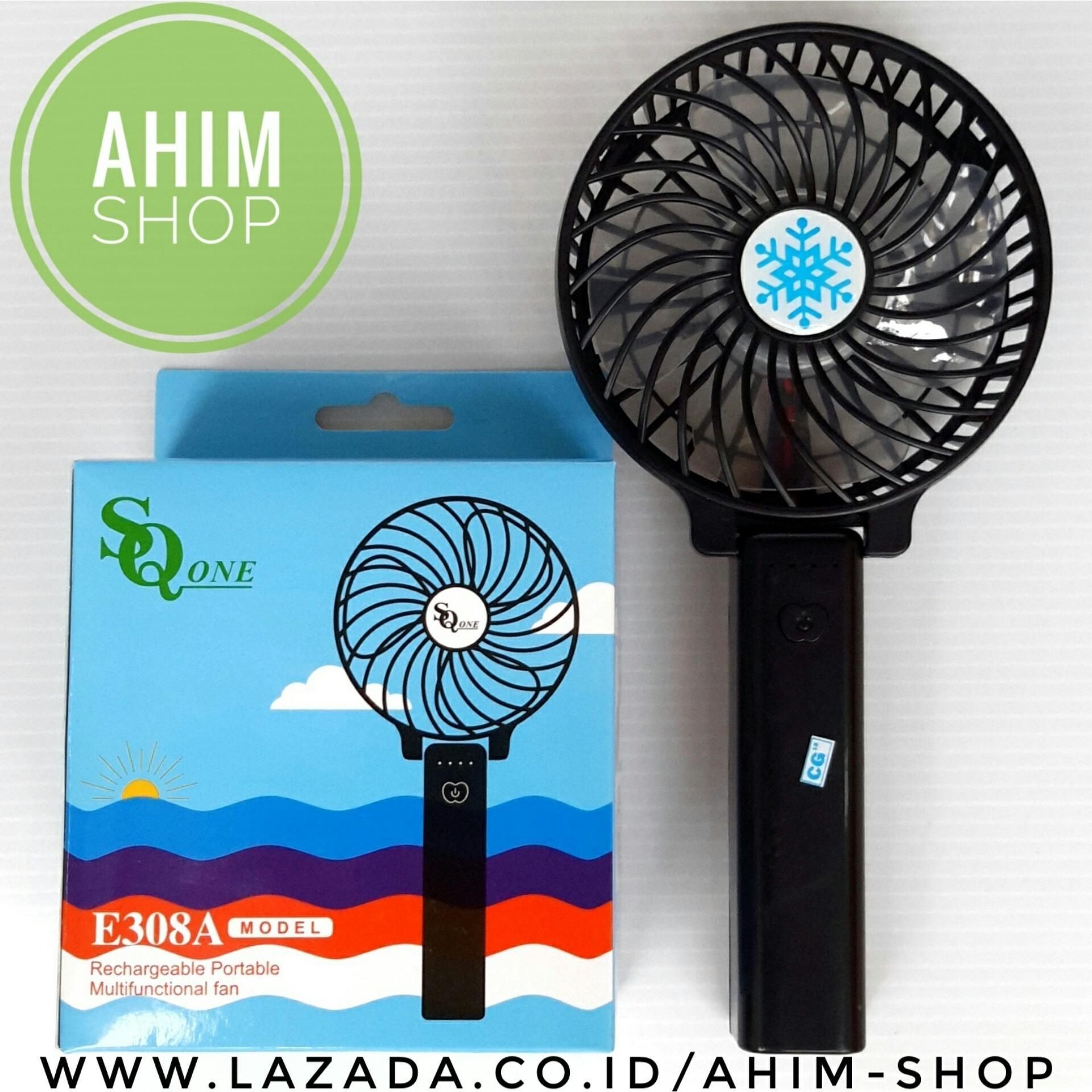 Detail Gambar Kipas Angin Tangan HITAM Lipat Portable USB Fan Mini Stand PLUS .