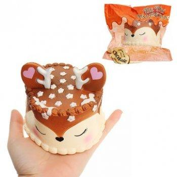 Squishy Deer Cake Squishy Jumbo Slow Rising Squishies Cream Scented Squeeze Kid Toy Phone Charm Gift