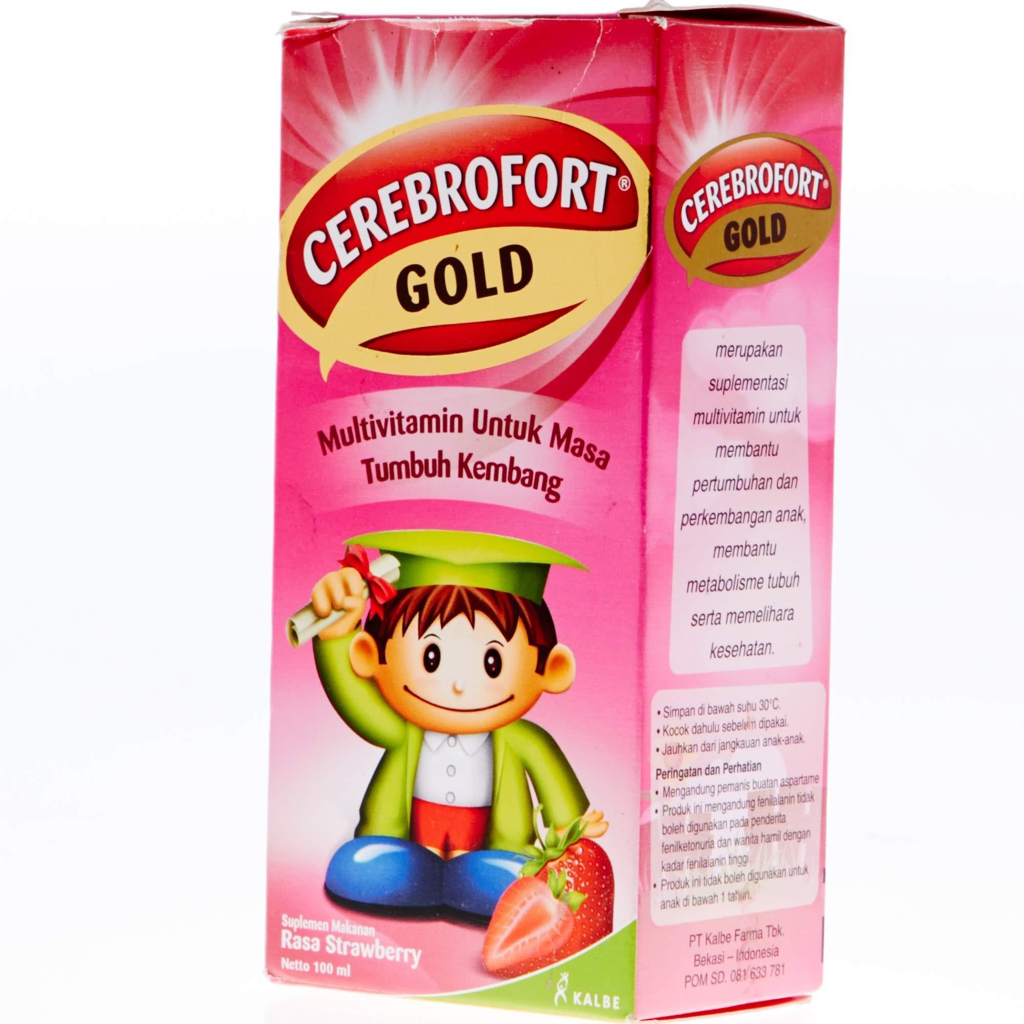 Cerebrofort Gold Strawberry 100Ml - 2 ...