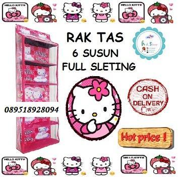 RAK TAS Gantung Hello Kitty Hanging Bag Organizer (HBO) Hello Kitty Pink FULL SLEETING