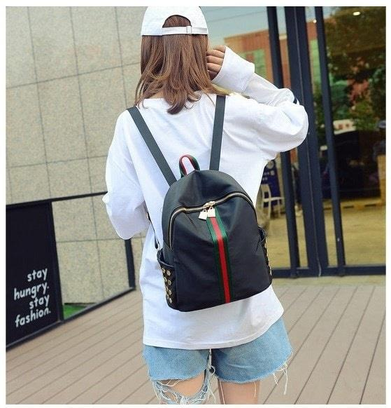 Backpack Tas Ransel CEWEK model gucci - Tas Punggung nilon wanita RNG