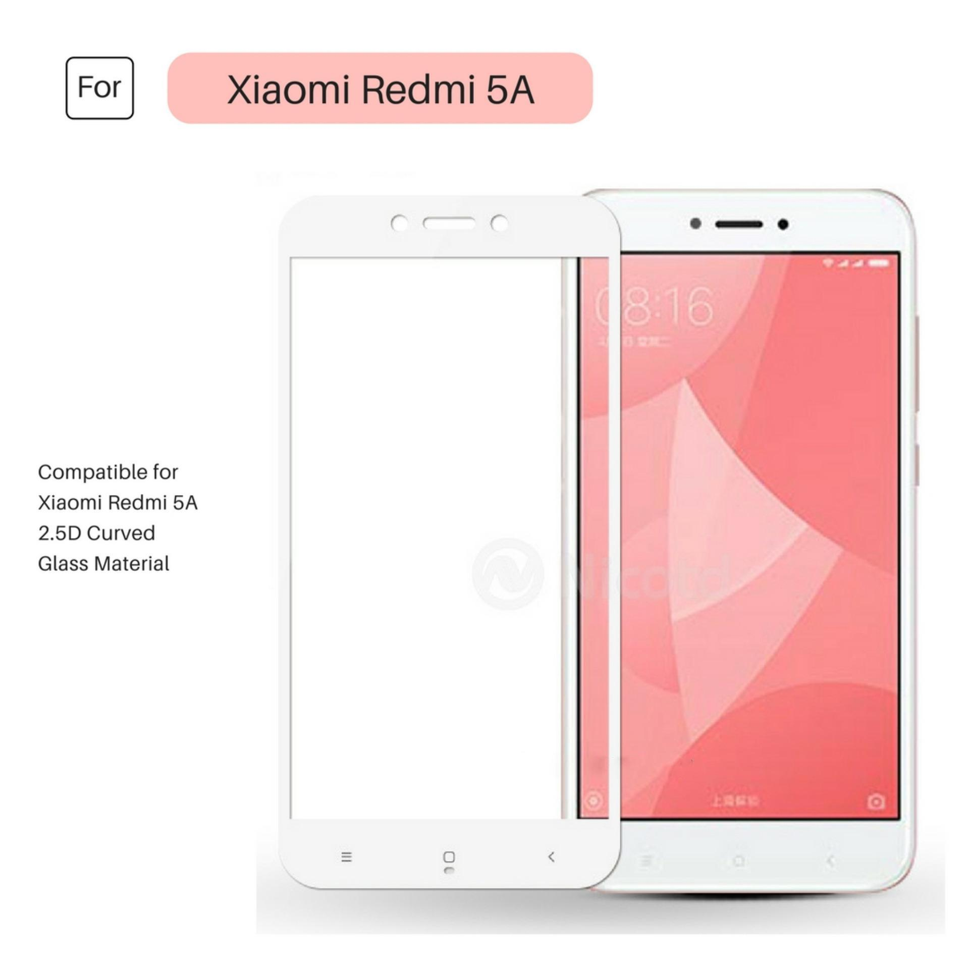 Jak Shop Tempered Glass Warna Full Corning Screen Protector For Xiaomi Redmi 5A - White
