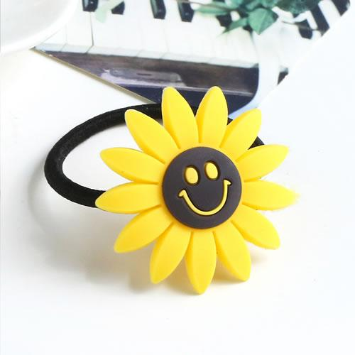 LRC Ikat Rambut Sweet Yellow Smiling Face Decorated Sunflower Shape Hair Band