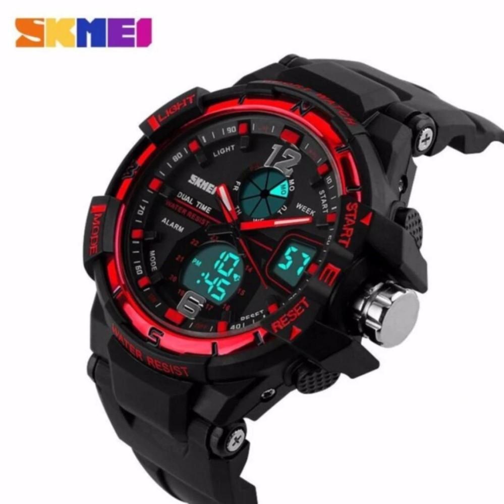 jam tangan fashion sport pria dualtime water resistance G. Source · SKMEI Men Sport Analog LED Watch Anti Air Water Resistant WR 50m AD1148 .