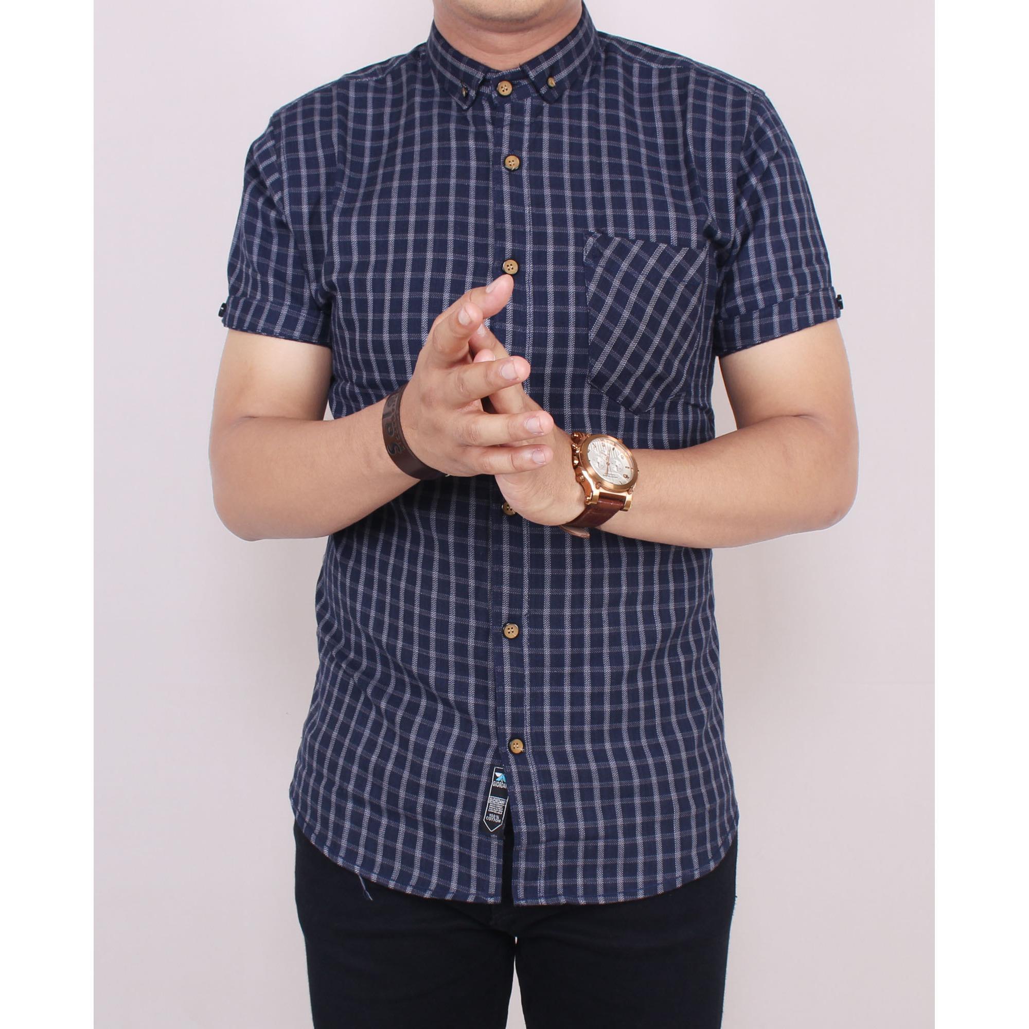 Perbandingan Harga Zoeystore 5516 Kemeja Flanel Pria Lengan Pendek Kotak Navy Baju Kemeja Flannel Cowok Kerja Kantoran Formal Kemeja Di Dki Jakarta