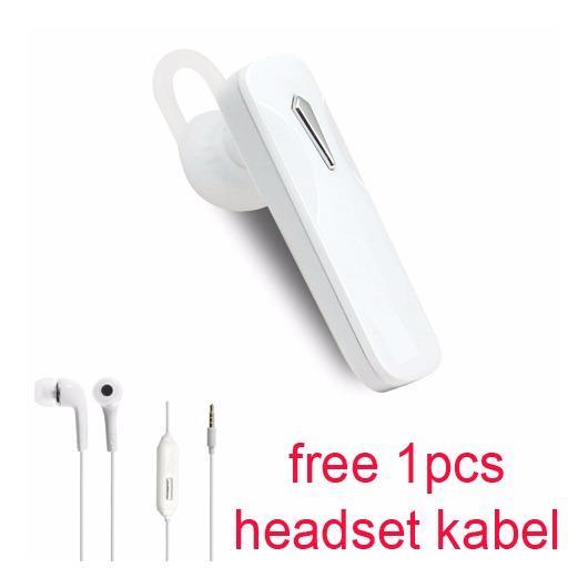 Handsfree Bluetooth + Hedset Kabel For Oppo R7 s / R7 Lite - Putih