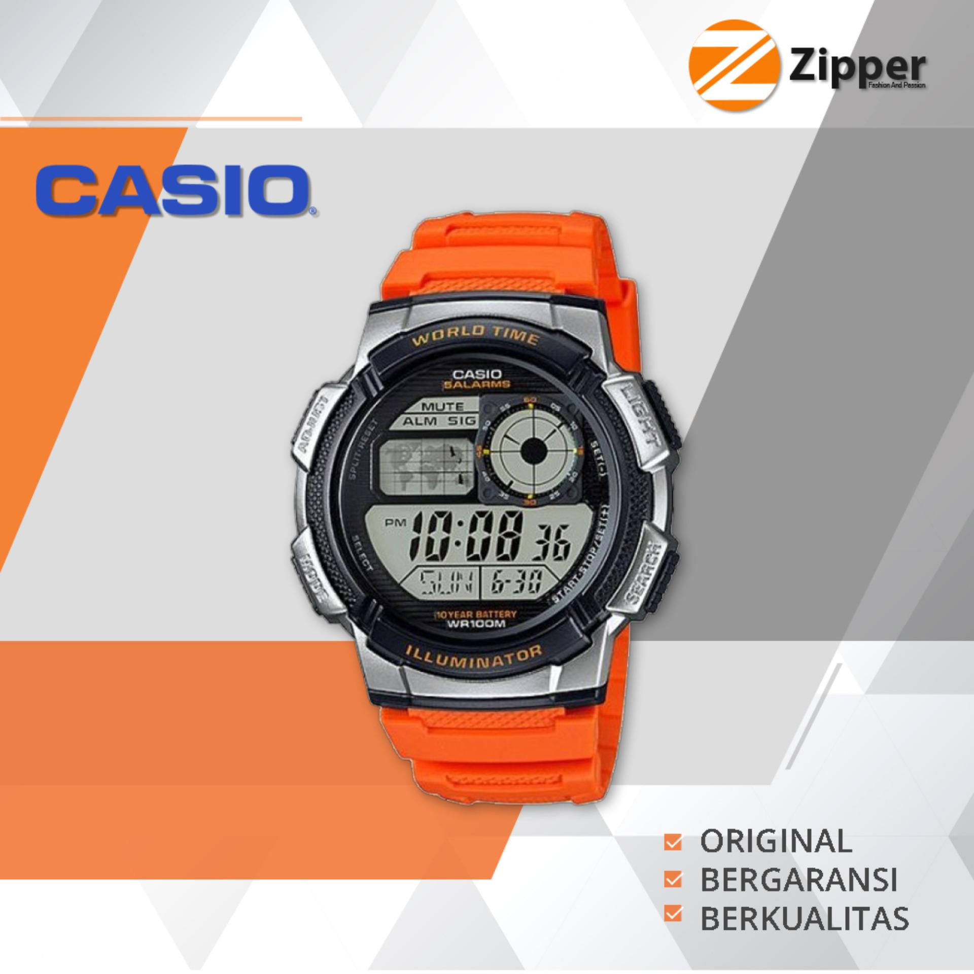 Jual Casio Illuminator Jam Tangan Digital Ae 1000W 4Bvdf Youth Series Tali Karet