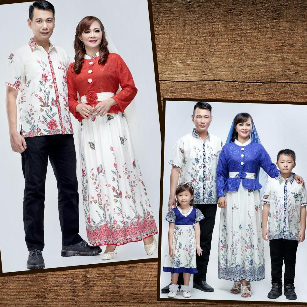 sku-id :b329mu Baju Batik Seragam Keluarga Couple Gamis Evalia Kupu