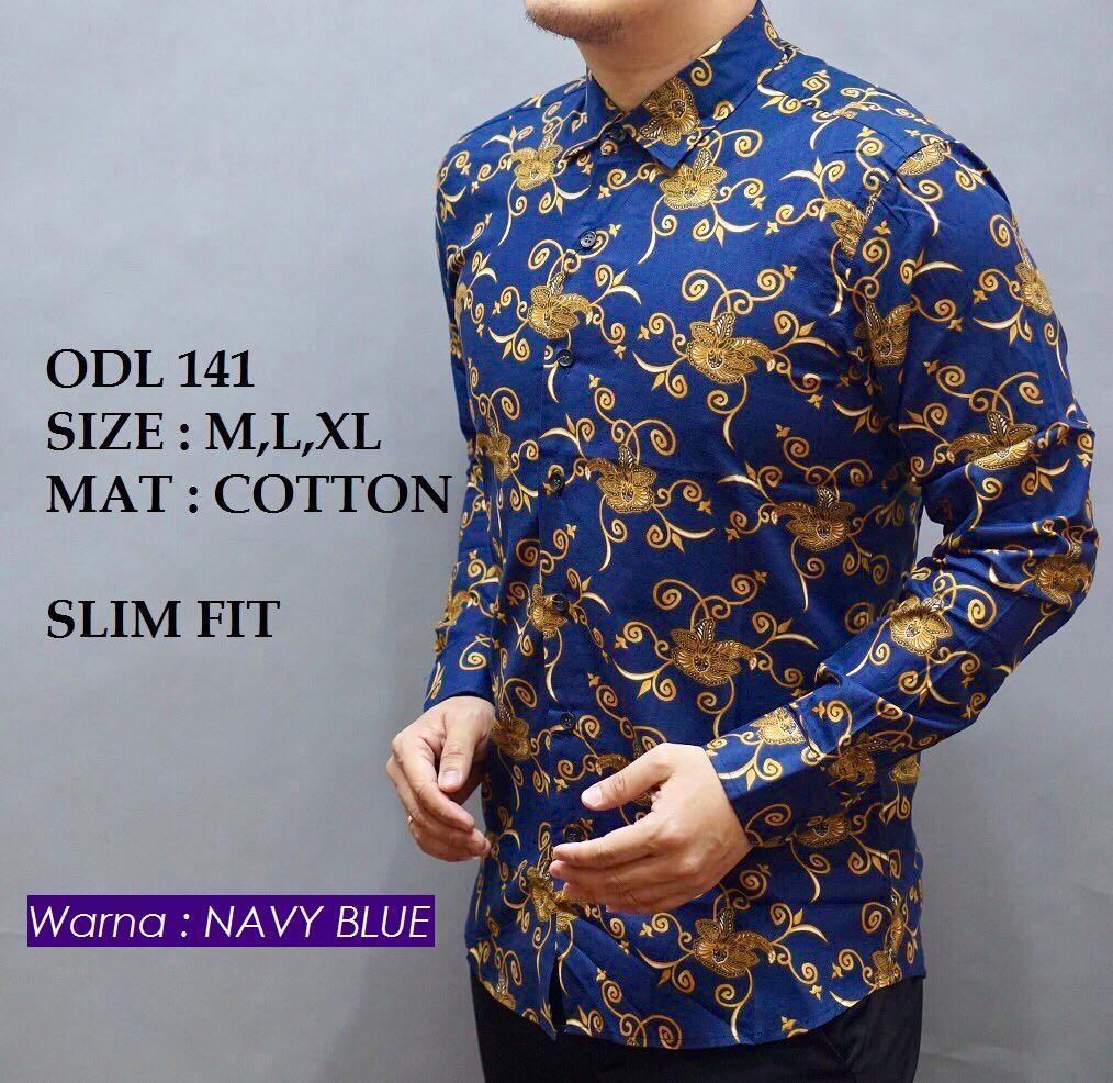 batik pria modern kemeja batik pria slim fit ww01x