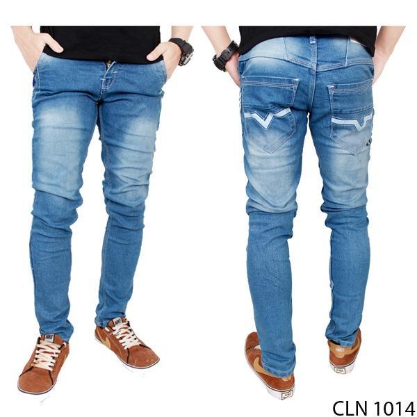 Promo Gudang Fashion Celana Keren Jeans Pria Biru Gudang Fashion Terbaru