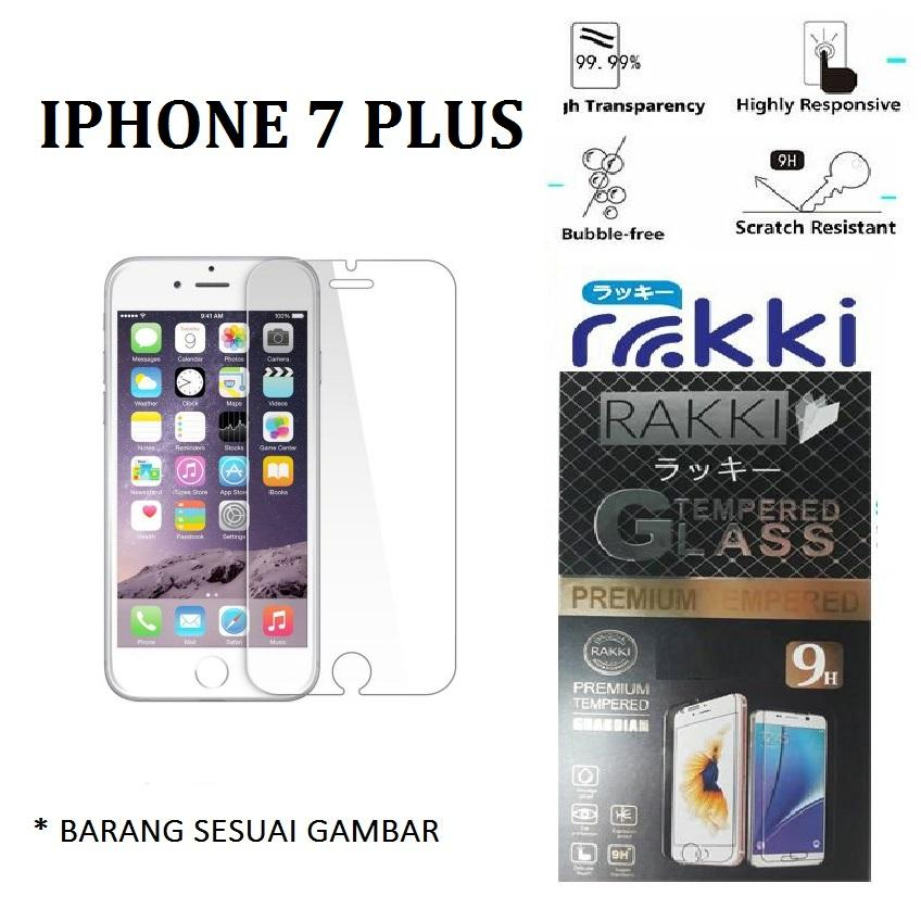 Tempered Glass Iphone 7 Plus Temper Anti Gores Kaca 9H / Pelindung Layar / Temper Apple