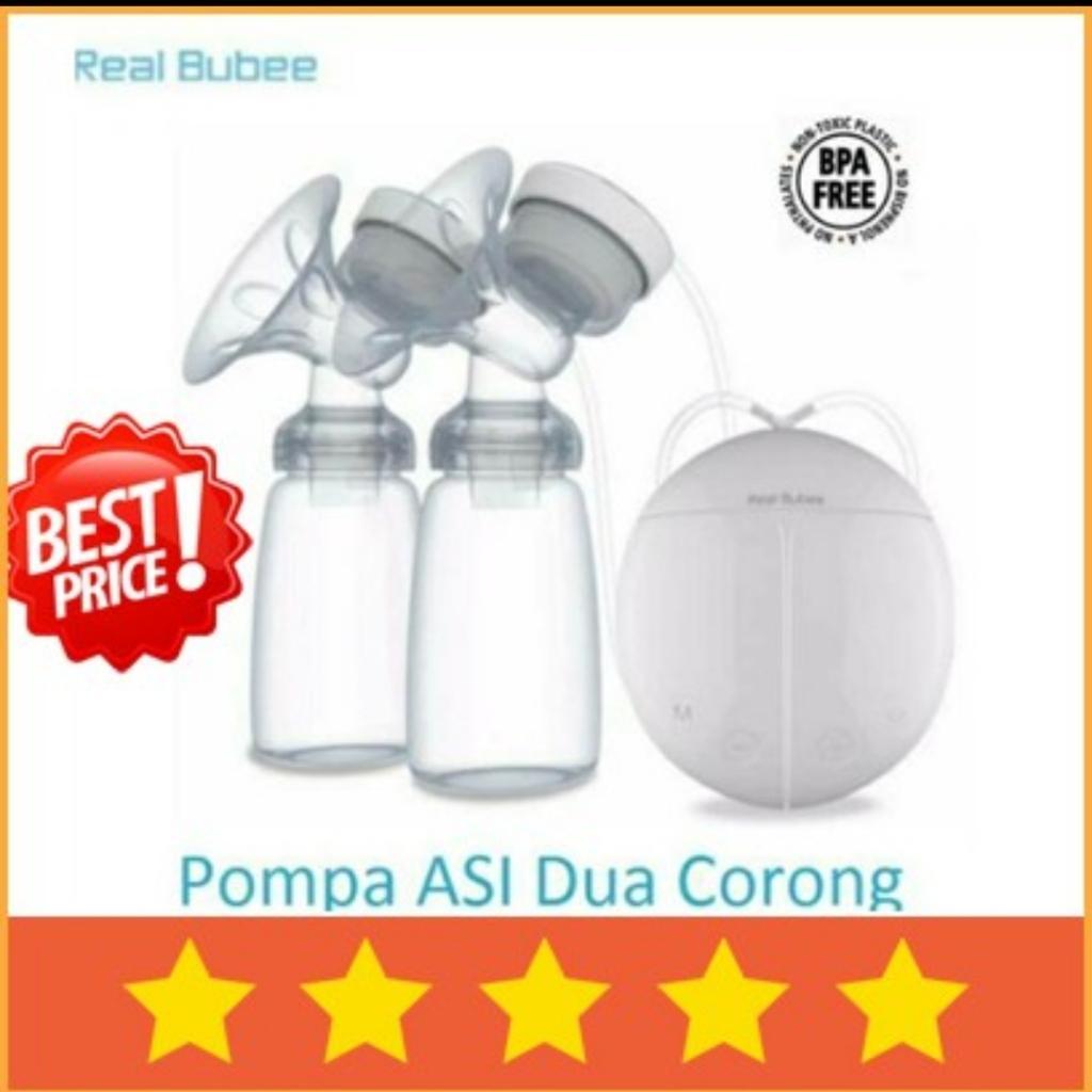Detail Gambar Ready stock pompa asi breastpump elektrik real bubee double corong Terbaru