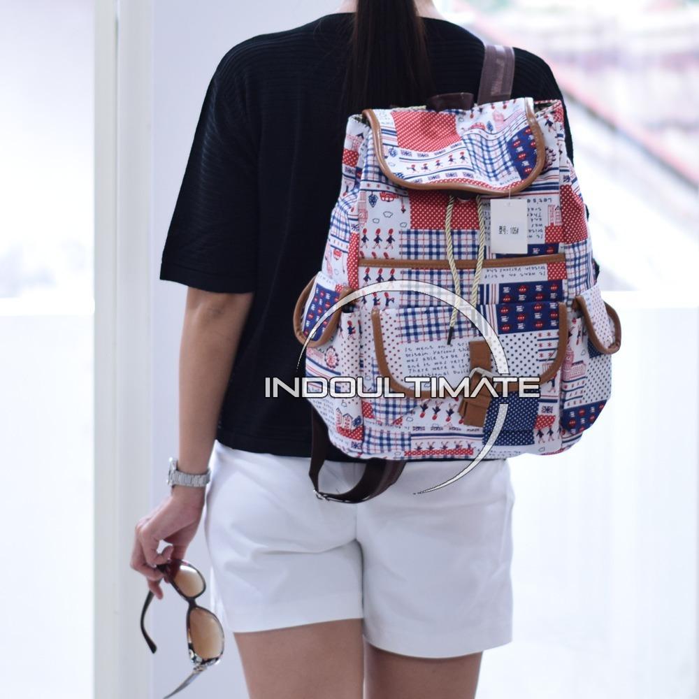 ULTIMATE Tas Wanita JS-105 / Backpack Anak Cewek Sekolah Remaja Korea Import  Batam Murah Branded / Tas Laptop Perempuan Cantik