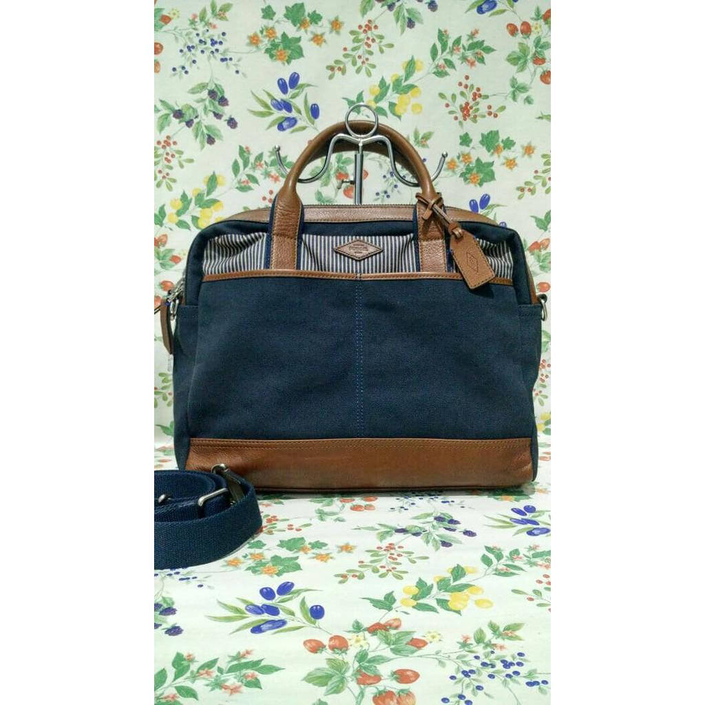 Kehebatan Fossil Harper Large Crossbody Brown Zb6760200 Coklat Dan Kendall Navy Ready Wyatt Work Bag Wags Original